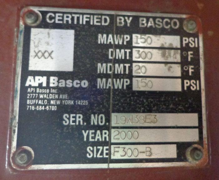 API BASCO TYPE TC MOISTURE SEPARATOR - SIZE: F300-B