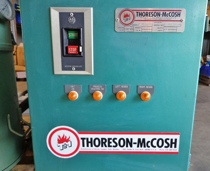 THORESON MCCOSH DRYER D-12 WITH HOPPER & DOUGAN CONTROL TRANSFORMER 53-10