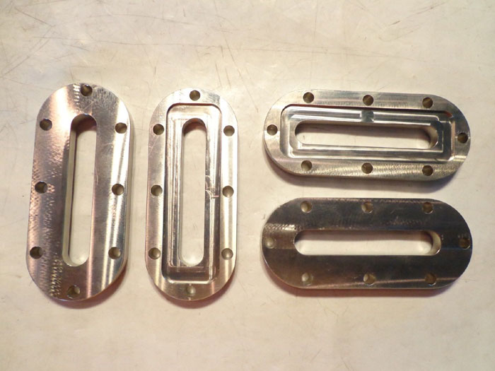 LOT OF (4) VETROLUX D-ENDED RECTANGULAR SIGHT GLASS LSGRP