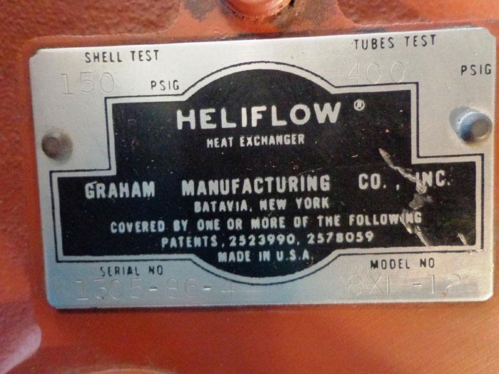 GRAHAM HELIFLOW HEAT EXCHANGER 8XF-12