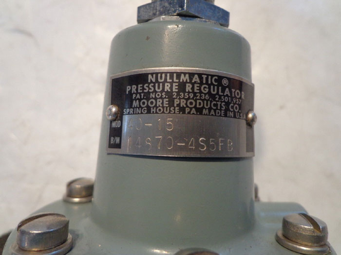 MOORE NULLMATIC PRESSURE REGULATOR - 40-15