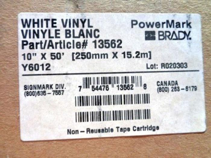 BRADY POWERMARK YELLOW VINYL TAPE CARTRIDGES 13563