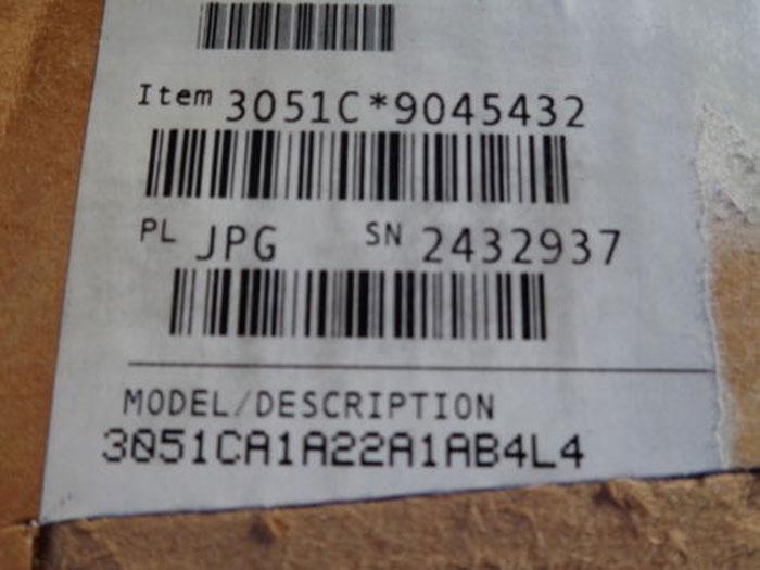 ROSEMOUNT SMART PRESSURE TRANSMITTER - 3051CA1A22A1AB4L4