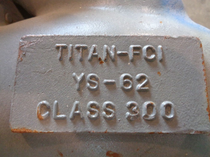 "TITAN/FCI FLANGED WYE VALVE, 6"" CLASS 300, YS-62 (USED)"