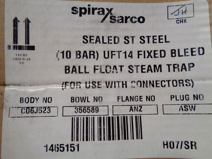 SPIRAX SARCO BALL FLOAT STEAM TRAP UFT14-10 FB