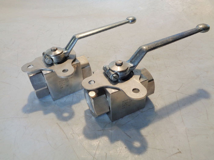 """LOT OF (2) ANCHOR FLUID POWER 2-WAY BALL VALVE 1"""" OR 3/4"""""""