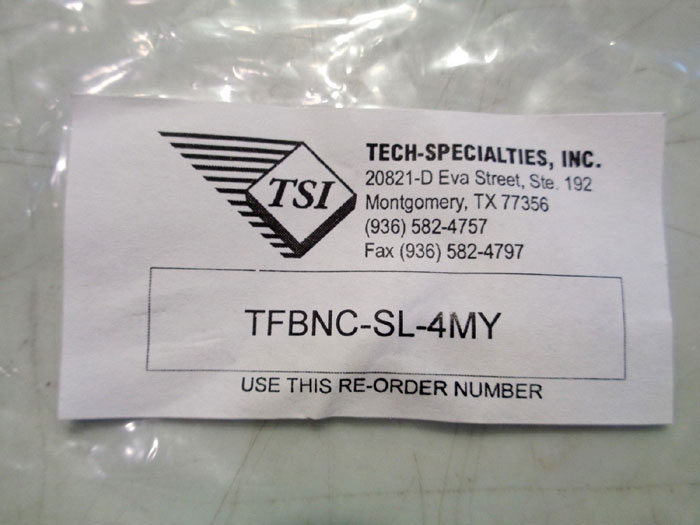 LOT OF (12) TSI (TECH SPECIALTIES) CABLE #TFBNC-SL-4MY
