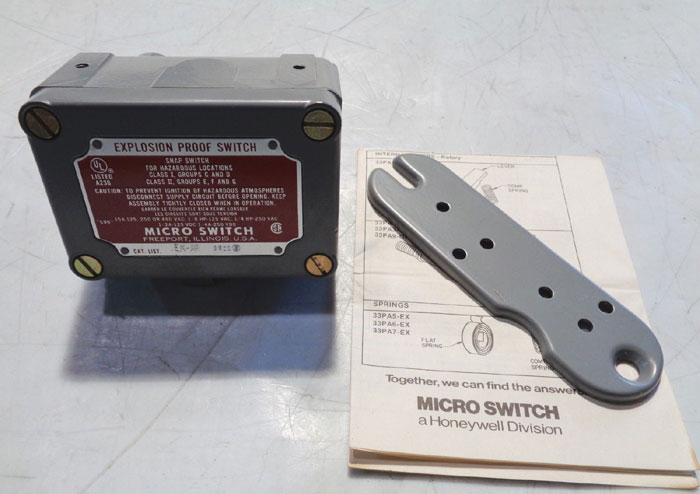 MICRO SWITCH EXPLOSION PROOF SNAP SWITCH EX-AR