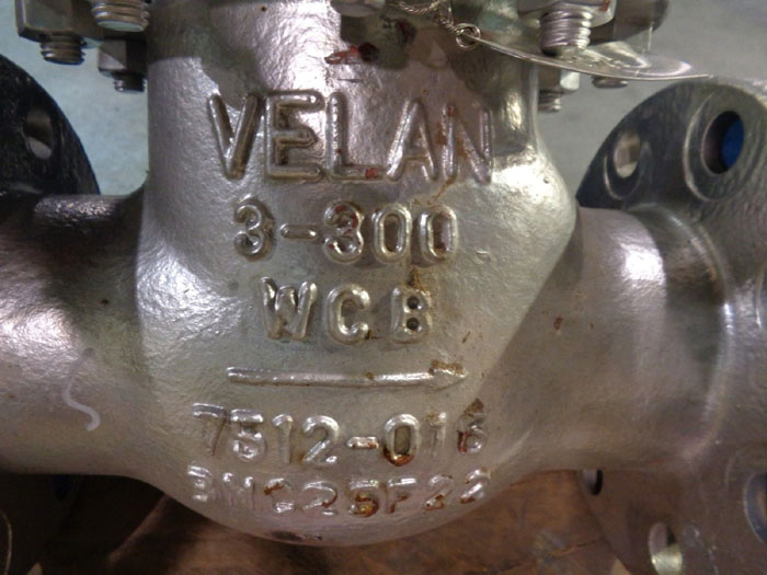 "VELAN SWING CHECK VALVE 3"" 300# FIG#: F10-1114C-02TY"