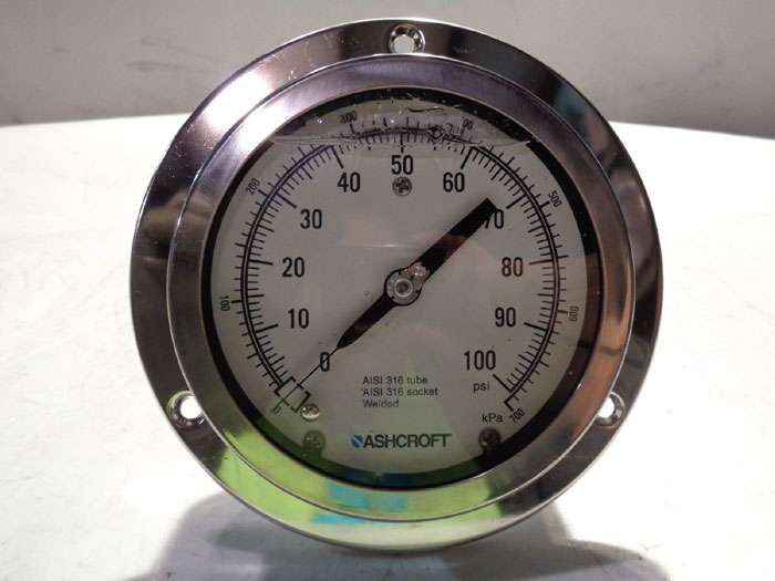 LOT OF (2) ASHCROFT LIQUID FILLED PRESSURE GAUGE 39-790