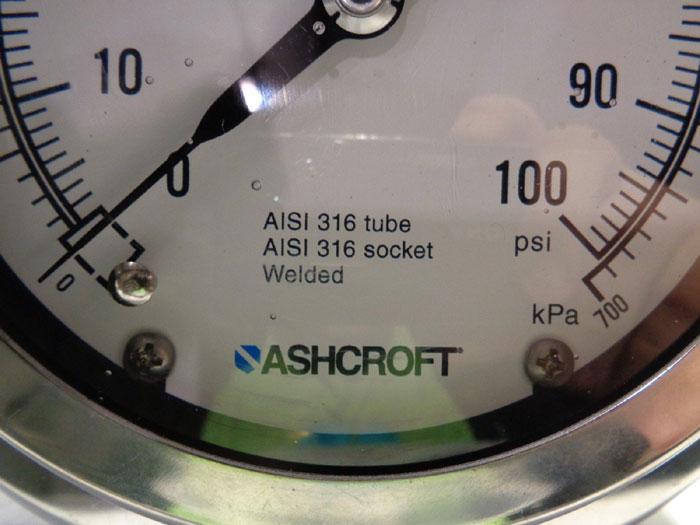 LOT OF (2) ASHCROFT LIQUID FILLED PRESSURE GAUGE 39-790