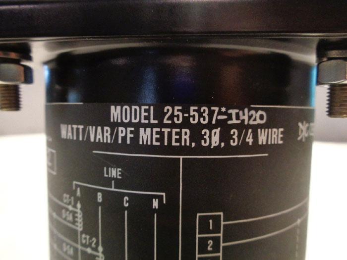 ARGA CONTROLS WATT VAR PF METER TRANSDUCER 25-537-I420