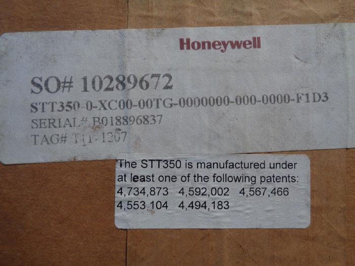 HONEYWELL STT3000 TEMPERATURE TRANSMITTER STT350-0-XC00-00TG