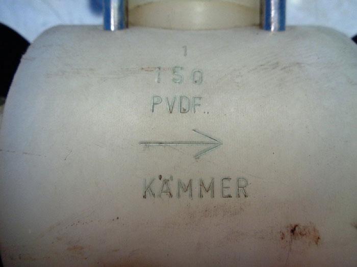 KAMMER CONTROL VALVE 32337 W/ SENSYCON I/P CONVERTER 22/06-69
