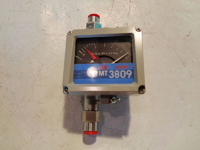 "BROOKS 1/2"" MT3809 VARIABLE AREA FLOW METER 3809E12B1DBA1A1"