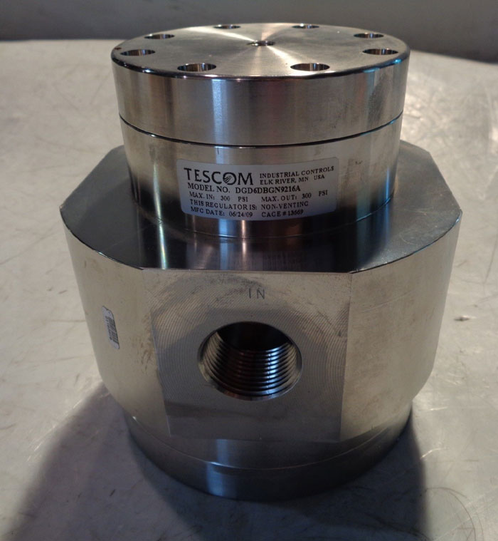 "TESCOM 1"" DG SERIES SINGLE STAGE NON-VENTING REGULATOR DGD6DBGN9216A"