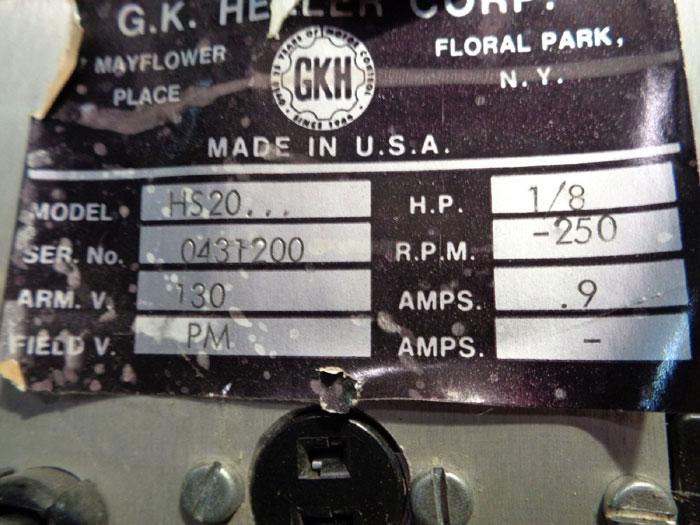 GK HELLER MOTOR CONTROLLER, HS20