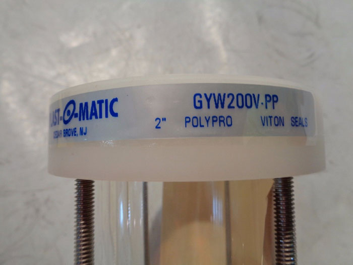 "PLAST-O-MATIC POLYPRO 2"" WAFER SIGHTGLASS SERIES GYW200-V-PP"