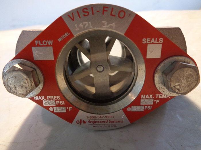 "VISI-FLO 3/4"" SIGHT FLOW INDICATOR VALVE 1471"