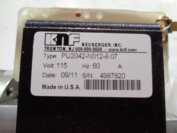 KNF NEUBERGER STAINLESS STEEL DIAPHRAGM VACUUM PUMP PU2042-N012-8.07