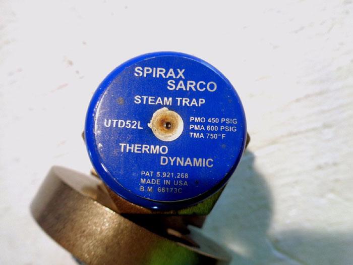 "SPIRAX SARCO 1/2"" THERMODYNAMIC STEAM TRAP W/ UNIVERSAL CONNECTOR UTD52L #66173C"