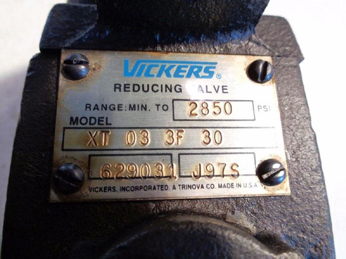VICKERS REDUCING RELIEF VALVE, XT 03 3F 30