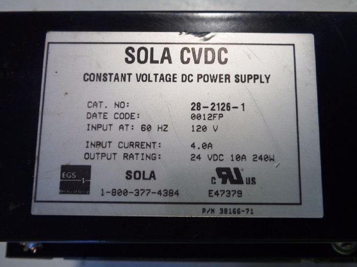 EGS SOLA CVDC POWER SUPPLY 28-2126-1