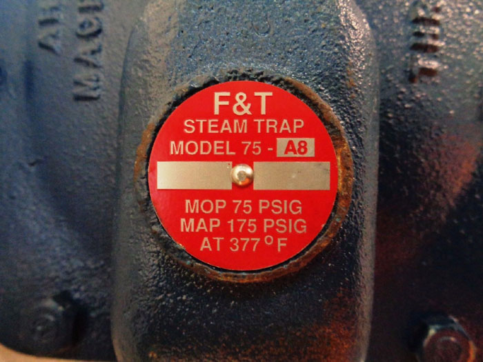 ARMSTRONG FLOAT & THERMOSTATIC STEAM TRAP 75-A8