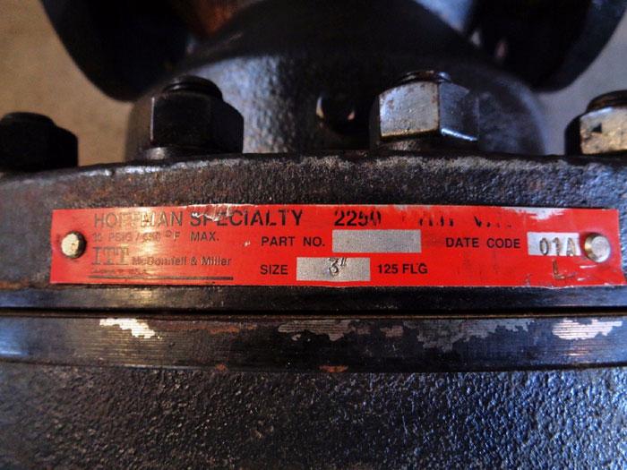 "ITT HOFFMAN 3"" 125# SPECIALTY 2250 PRESSURE REDUCING VALVE"