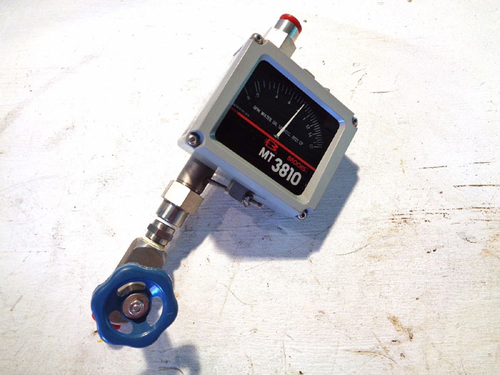 "BROOKS 1/2"" MT3810 METAL TUBE VARIABLE AREA FLOWMETER 3810A12B1PAA1Q1"