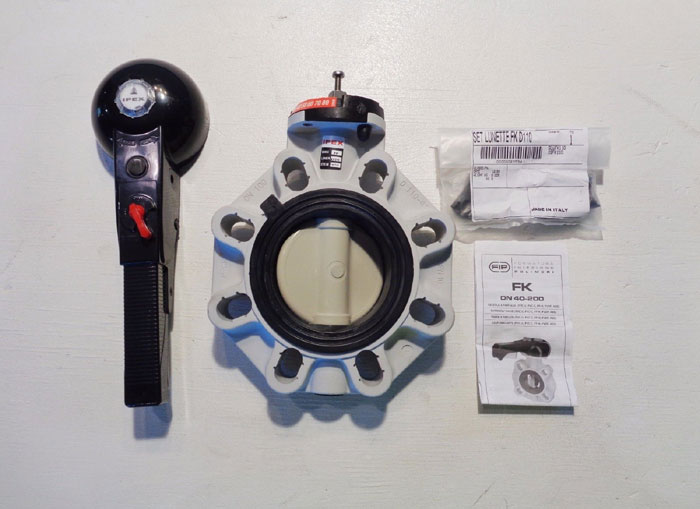"IPEX 4"" WAFER STYLE BUTTERFLY VALVE # FKOM111, EPDM PRODUCT CODE#: 053106"