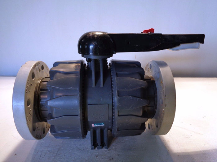 "IPEX 4"" PVC FLANGED BALL VALVE"