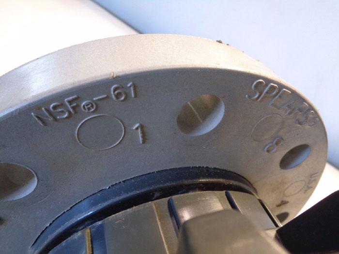 "IPEX 4"" PVC FLANGED BALL VALVE"