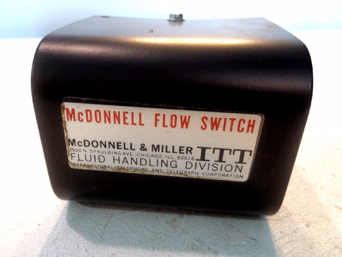 LOT OF (2) ITT MCDONNELL & MILLER FLOW SWITCH, MODEL#: FS8-W & MODEL#: FS4-3