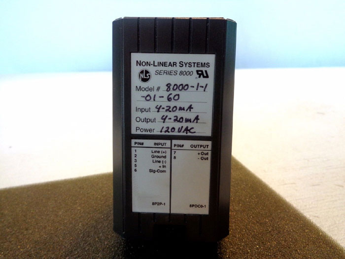 NLS NON-LINEAR SYSTEMS SERIES 8000 SIGNAL CONDITIONER 8000-1-1-01-60
