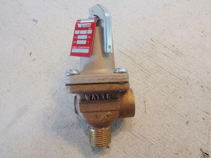 """WATTS 1/2"""" BRASS PRESSURE RELIEF VALVE N30L, #0111927"""