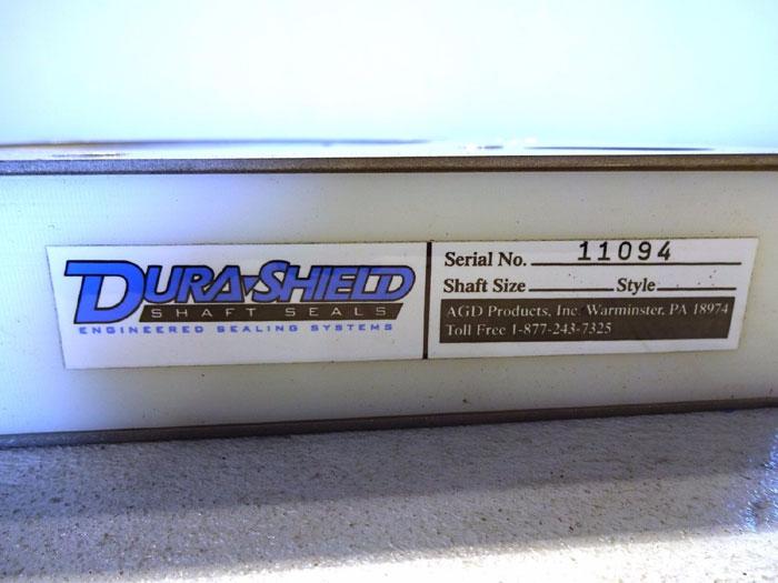 """AGD DURASHIELD 6 OR 5-7/16"""" SHAFT SEAL, SDFS, FULL SPLIT STYLE W/ EPDM LINER"""