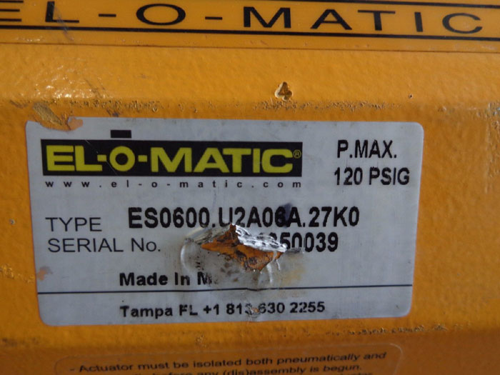 EL-O-MATIC ACTUATOR, TYPE: ES0600U2A06A.27K0
