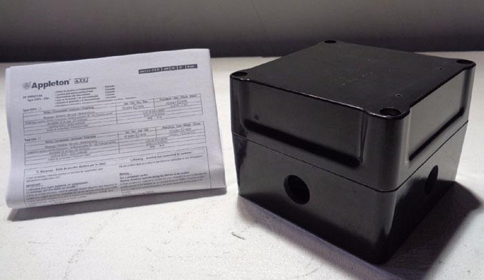 LOT OF (2) EMERSON APPLETON POLYESTER JUNCTION BOX JBEP121209D1
