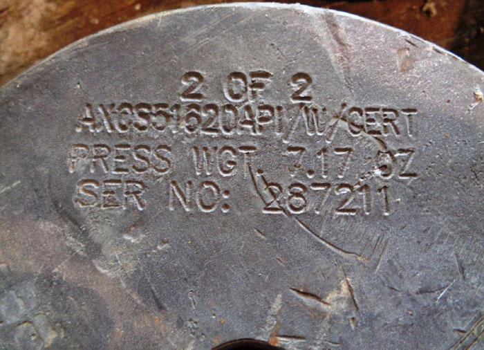 LOT OF (5) ROUNDED WEIGHTS - LEAD & STAINLESS, #AXCS51620API, #F8546H