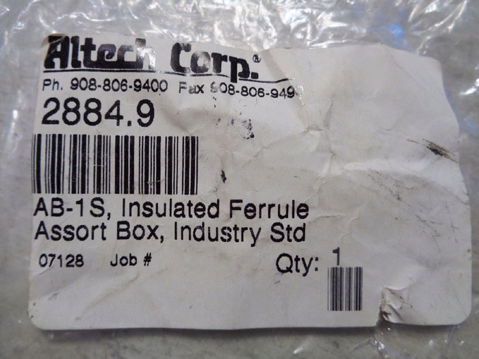 ZF ZOLLER FROHLICH 400 PC INSULATED FERRULE ASSORTED KIT V3SO0001 - LOT OF (4)