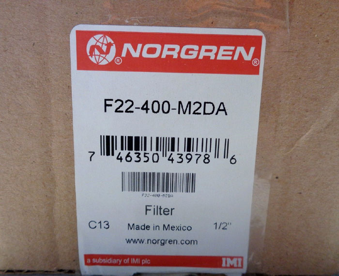NORGREN STAINLESS STEEL FILTER #F22-400-M2DA
