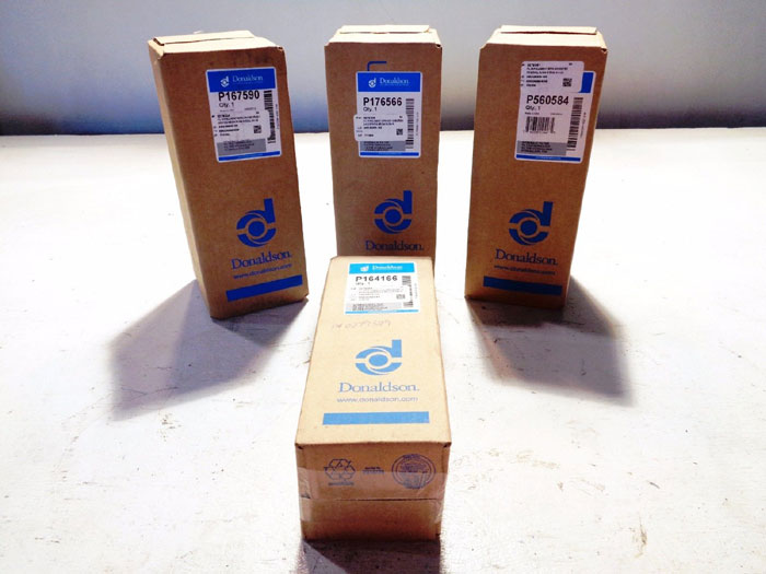 LOT OF (4) DONALDSON HYDRAULIC FILTERS #P164166, #P167590, #P176566, #P560584