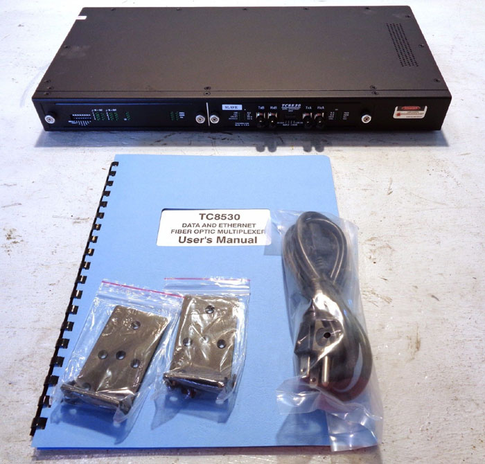 TC COMMUNICATIONS DATA & ETHERNET FIBER OPTIC MULTIPLEXER TC8530
