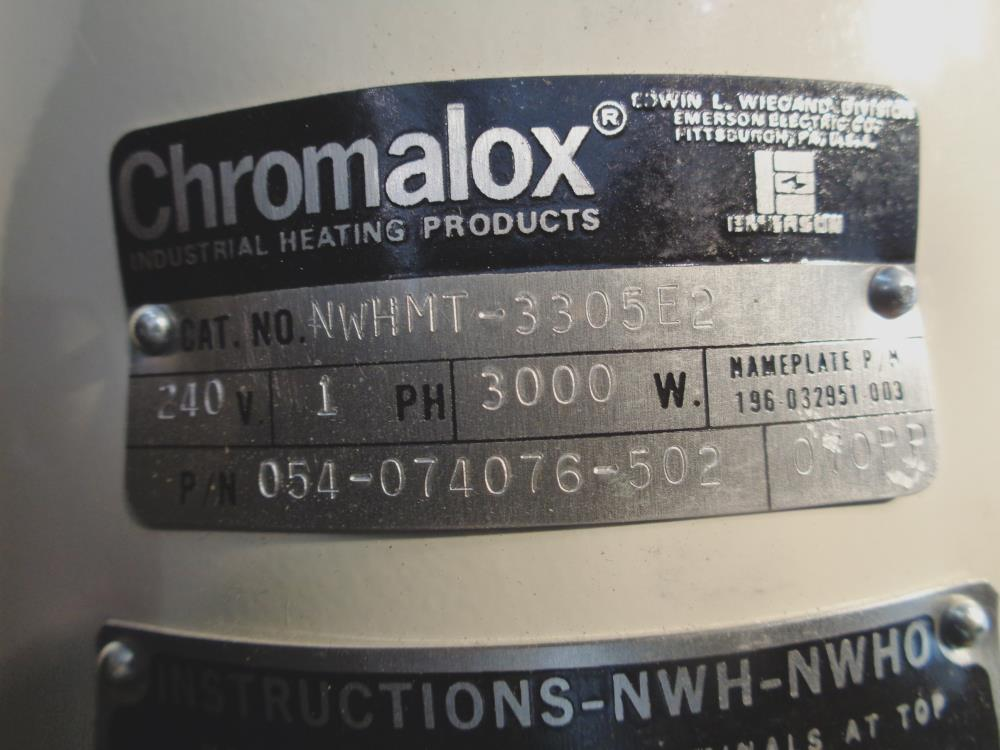 CHROMALOX 240V 3,000W CLEAN WATER APPLICATIONS CIRCULATION HEATER NWHMT-3305E2