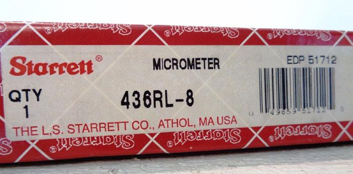 STARRETT MICROMETER #436RL-8