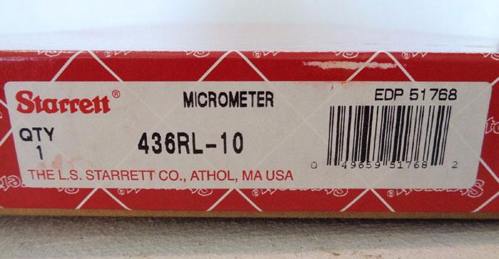 STARRETT MICROMETER #436RL-10