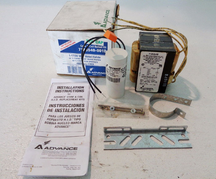 LOT OF (5) A ADVANCE CORE & COIL BALLAST KIT 71A5540-001D