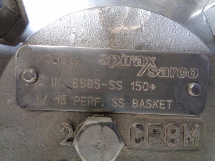 "SPIRAX SARCO 2"" 150# CF8M FLANGED SIMPLEX BASKET STRAINER, MODEL#: BS85-SS"