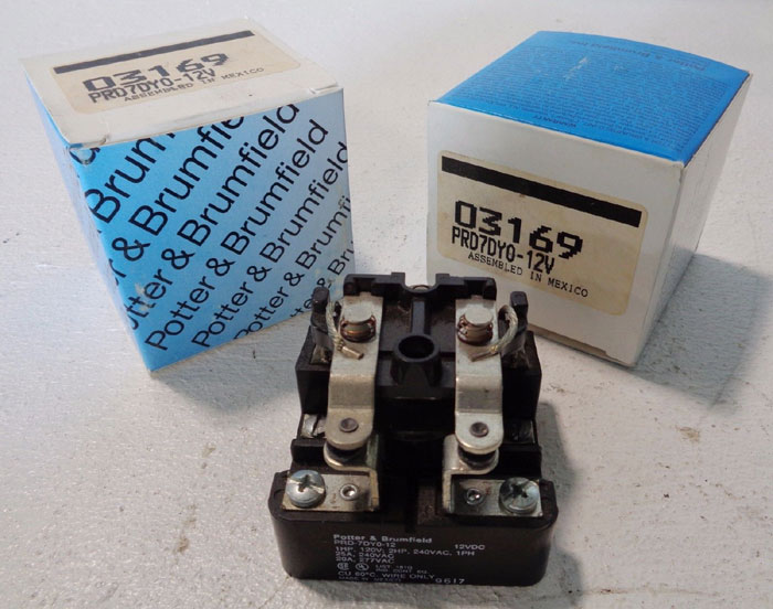 LOT OF (6) POTTER & BRUMFIELD POWER RELAY, PRD-7DY0-12 & PR-80032